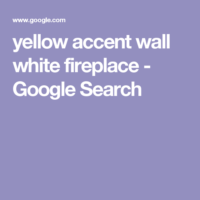Accent Wall Dual Staircase: Yellow Accent Wall White Fireplace