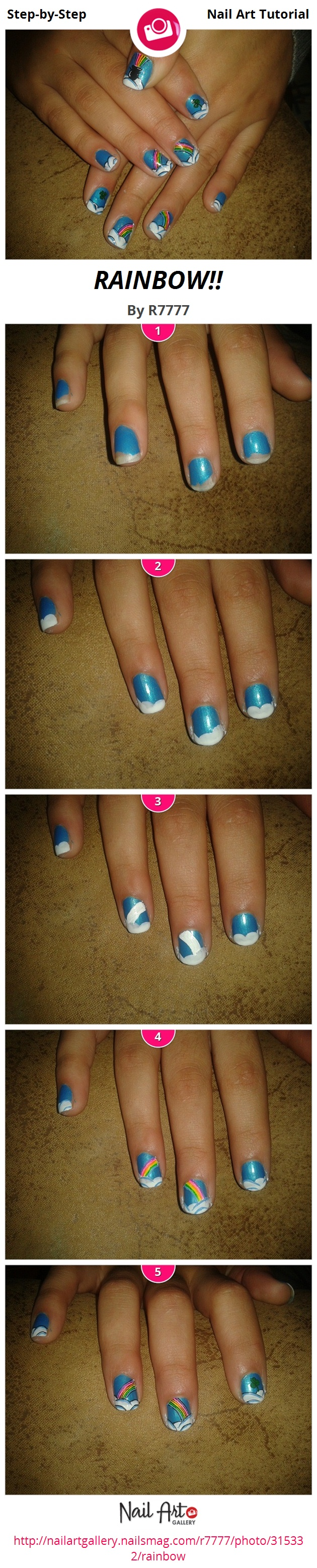RAINBOW!! by R7777 - Nail Art Gallery Step-by-Step Tutorials ...