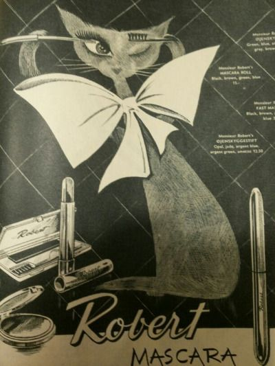 Limette63 . saved to Vintage Cat Ad Nice ad / nice cat: danish magazin FEMINA…