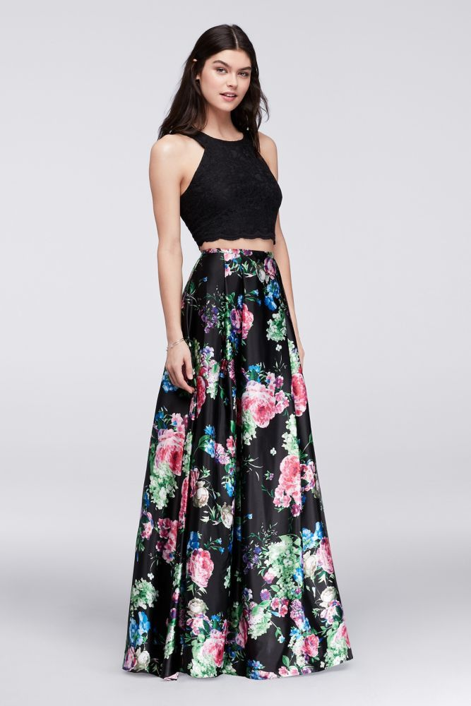763360f9 Cutaway Crop Top and Floral Skirt Two-Piece Set | *Clothing ...