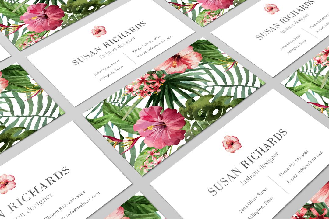 tropical business card design modern branding