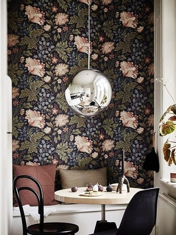 Look We Love: Dark And Moody Fall Florals. Wallpaper IdeasOffice ...
