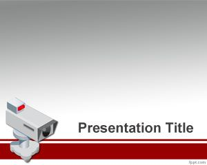 Free Security Camera Powerpoint Template Background For