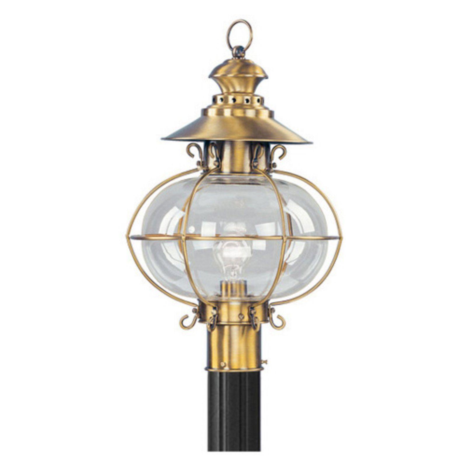 Livex Harbor 2226 22 Outdoor Post Head Flemish Brass 12 75w In Post Mount Lighting Post Lights Livex Lighting