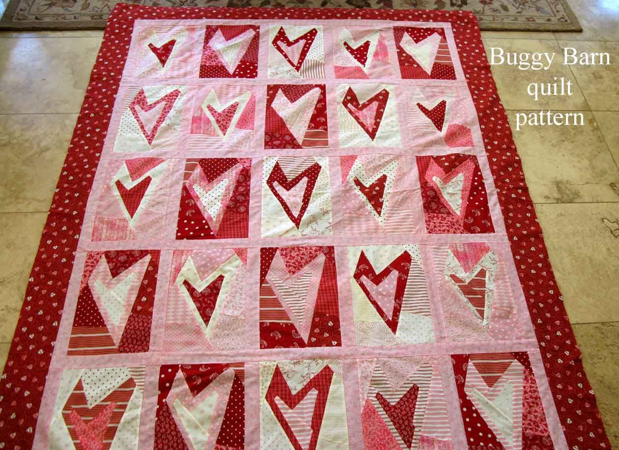 Valentine Heart Quilt | Valentine heart, Barn quilt patterns and ... : valentine quilt patterns - Adamdwight.com