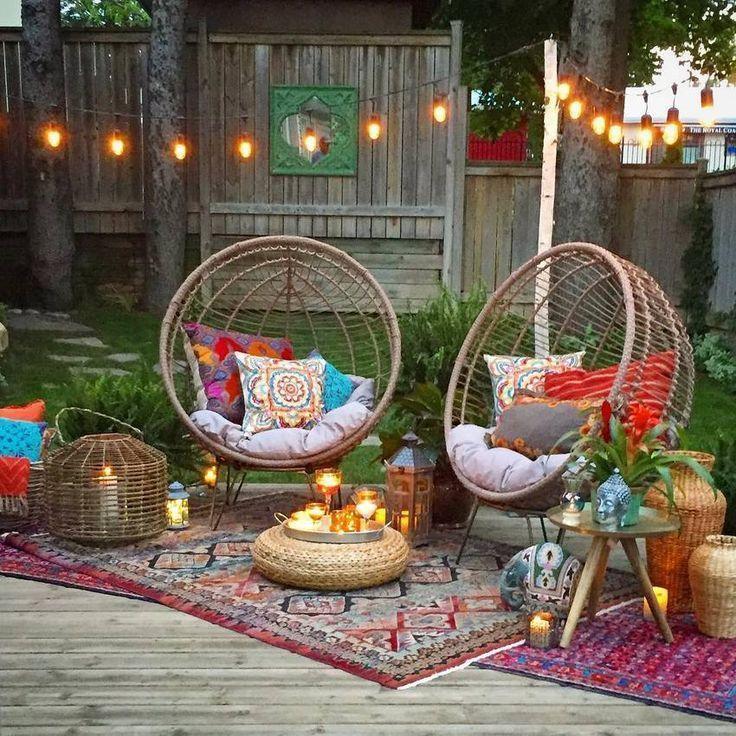 Photo of Terrasse mit Korbsesseln   – Wohnen Outdoor #Couch #Canape #sofa #Balcony Garden…