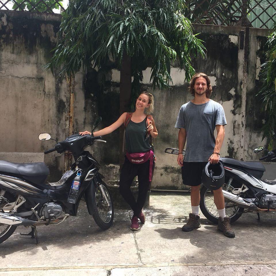Alexcis And Weston Off To Hanoi On Two Honda Blades 110