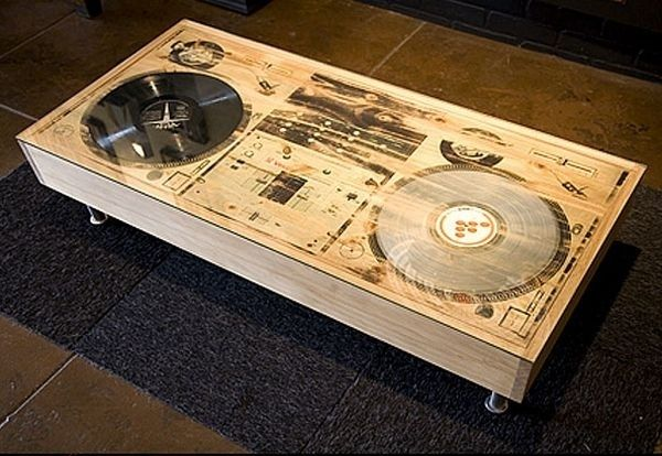 Or This Turntable Coffee Table Cool Coffee Tables Creative Coffee Table Artistic Furniture