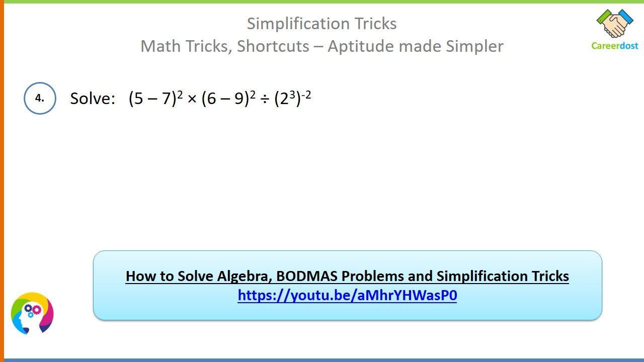Simplification Tricks Algebra And Bodmas Problems Basics Examples Shortcuts Math Tricks In 2021 Math Tricks Bodmas Algebra [ 720 x 1280 Pixel ]