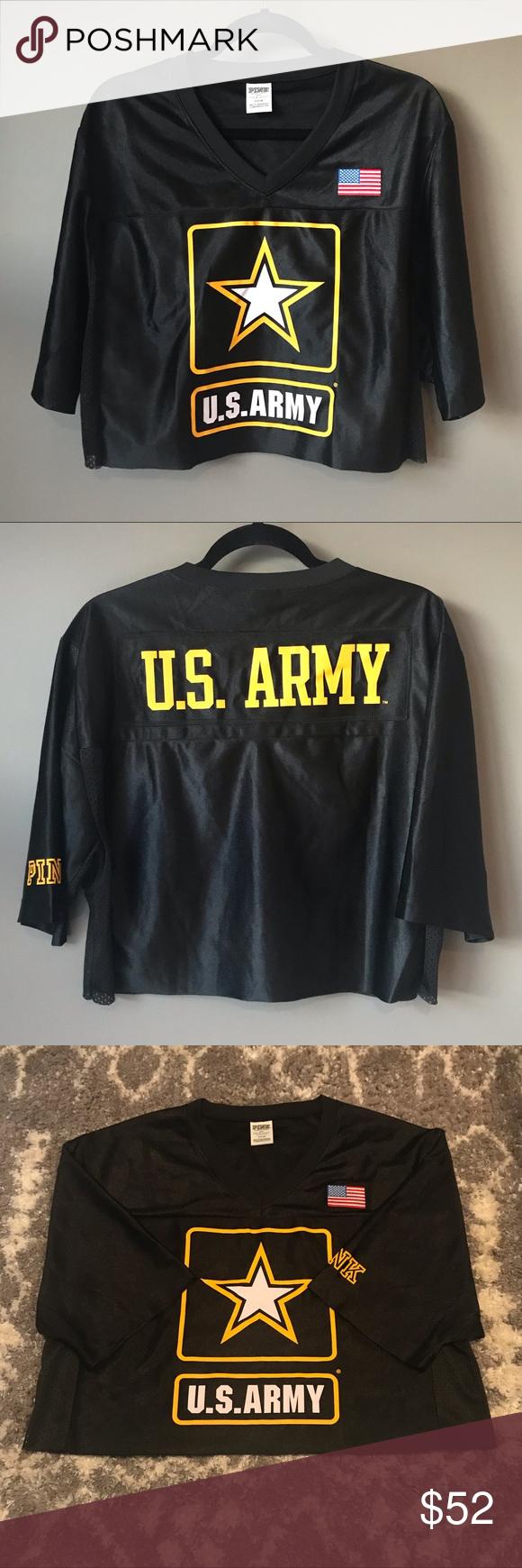 NWOT VS PINK Army crop top Victoria s Secret Pink  5th   Ocean cropped U.S.  ARMY 9c91ec163