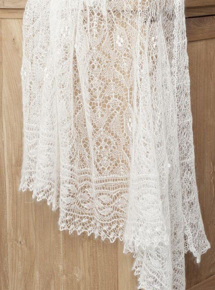"""Wedding shawl """"Cecilia"""" Knitting pattern by Rita Maassen   Knitting Patterns   LoveKnitting"""