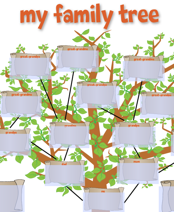 Kids  Family Trees Template And School