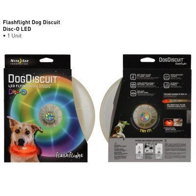 DOG COLLARS & LEADS - ILLMNTED - FLASHLIGHT DOG DISCUIT LED LIGHT UP FLYING DISC - NITE IZE - Nite Ize, INC. - UPC: 94664028210 - DEPT: DOG PRODUCTS