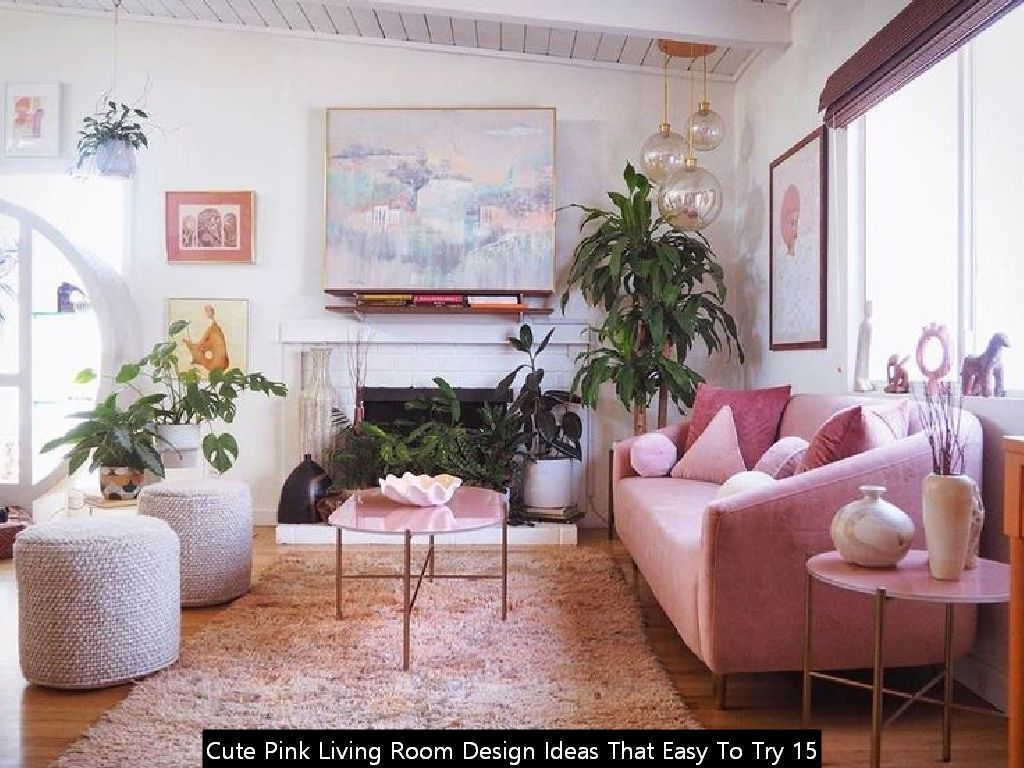 20 Cute Pink Living Room Design Ideas That Easy To Try In 2020 Pink Living Room Living Room Designs Living Room #tan #and #burgundy #living #room