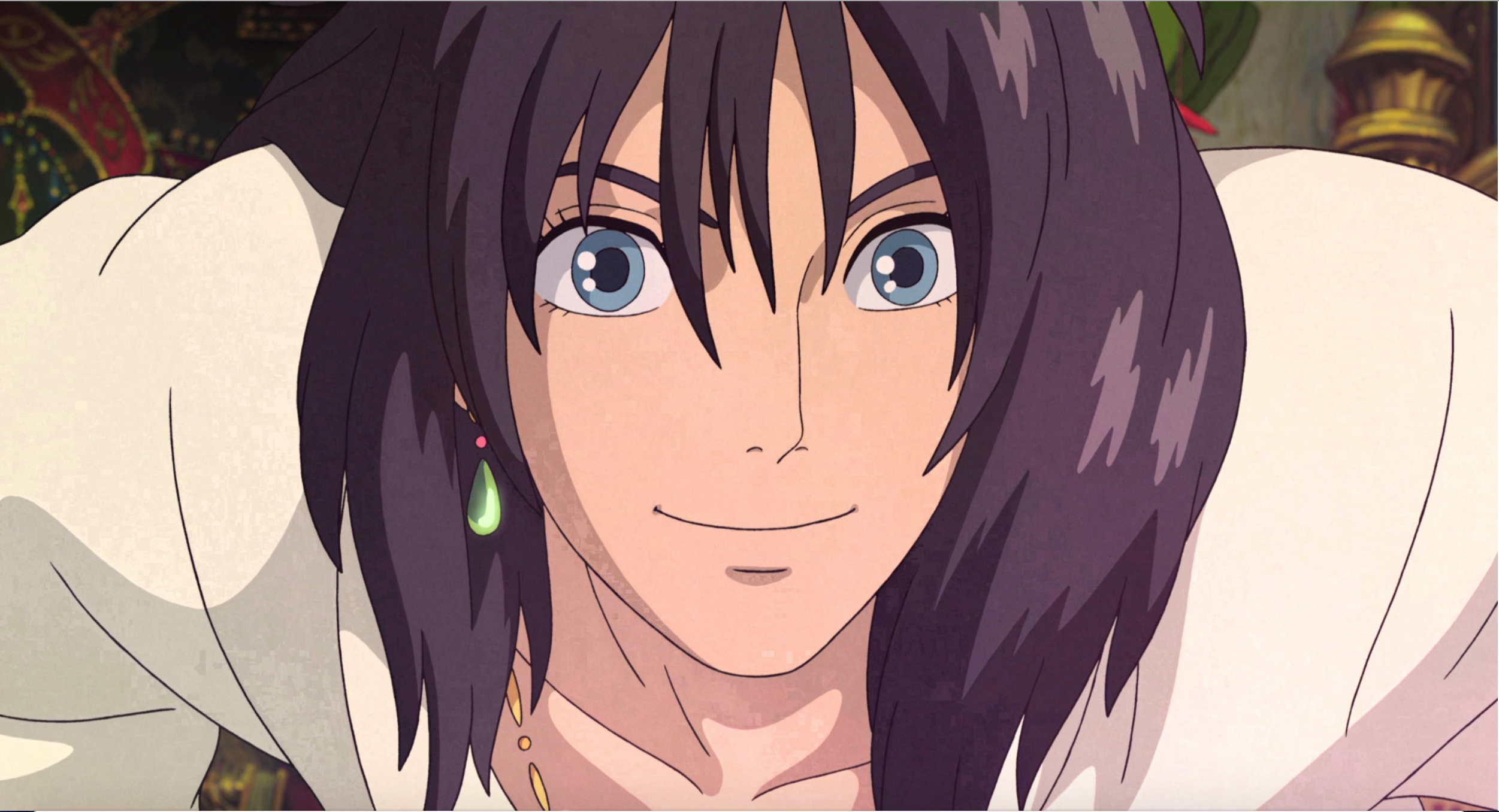 Howl with his new beautiful raven black hair | Howls moving castle, Ghibli  art, Howl pendragon