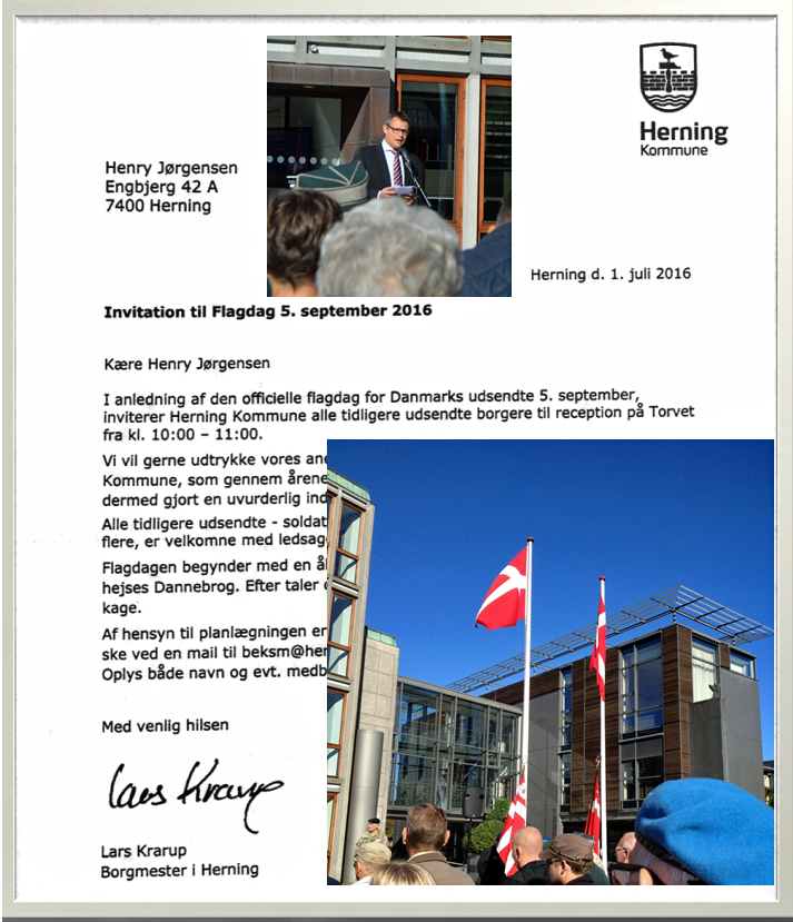 5. september er den officielle flaggag for de danske udsendte. Formålet med flaggagen er at hædre alle de danskere, der er eller har været udsendt på en mission for Danmark siden 1948. Jeg modtog en invitation og mødte op. Læs her om dagens oplevelser.