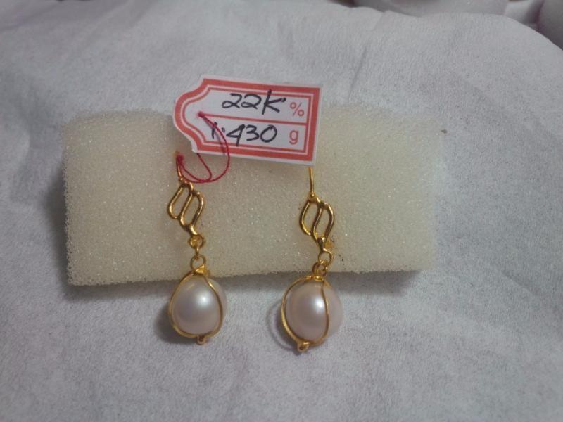 anting mutiara emas perhiasan mutiara terbaik fashion