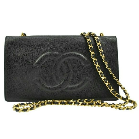 CC Wallet on Chain WOC Black BG1CS032 Preloved Authentic