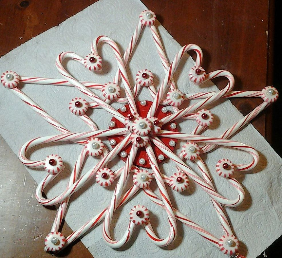 Candy Cane Christmas Star