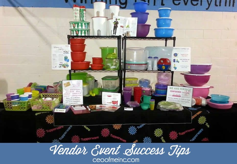 Vendor Event Success Tips for Direct Sales Party Plan and Network Marketing Reps