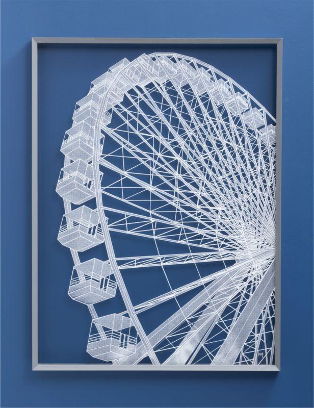 ferris wheel print in accessories   CB2.... print is on clear ...