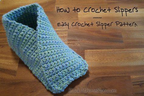 How To Crochet Slippers Easy Crochet Slipper Pattern Slippers