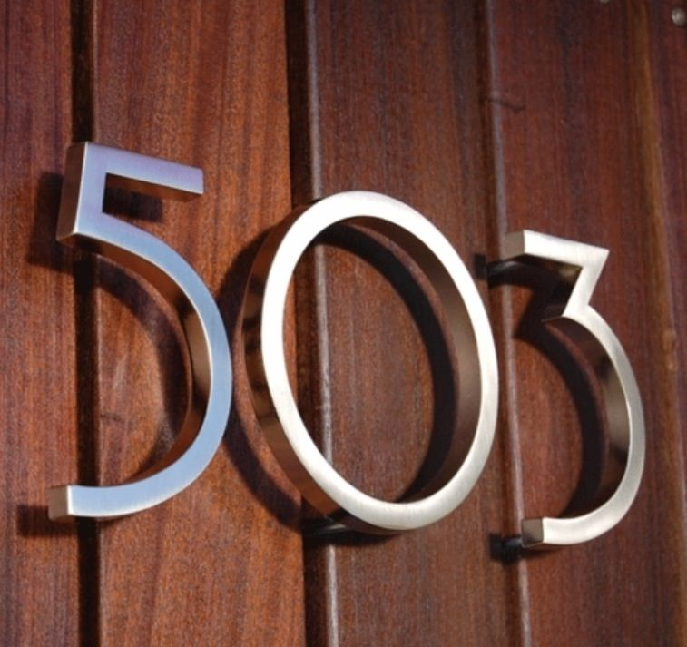 Cool house number font.   House Renovations   Pinterest   Number ...