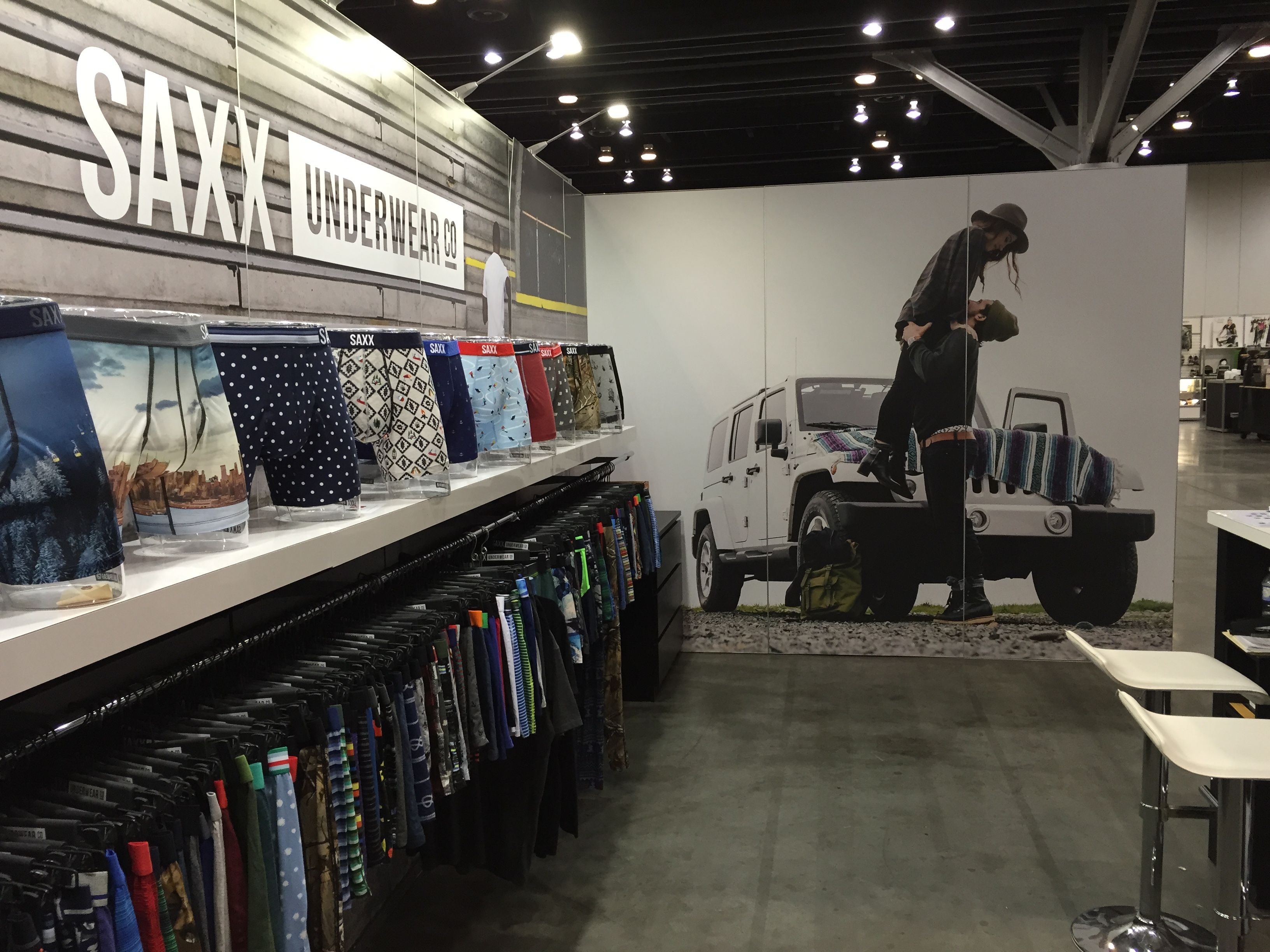Trade Show Booth Vancouver : Saxx underwear know show vancouver by mackenzie exhibit