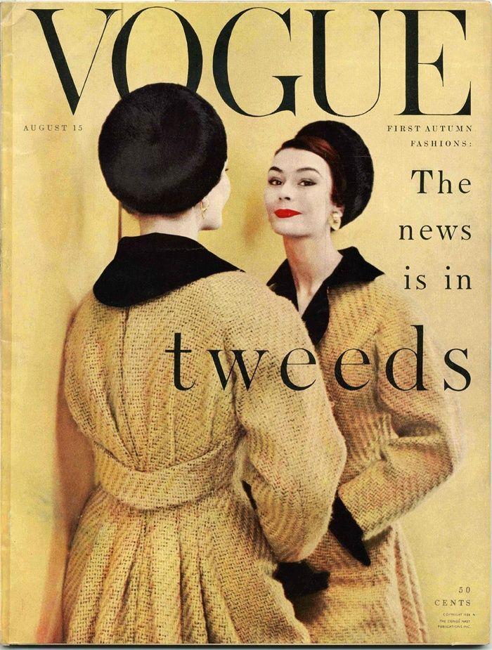 Vintage 1950\'s Fashion Magazine, VOGUE August 1954, Vintage ...