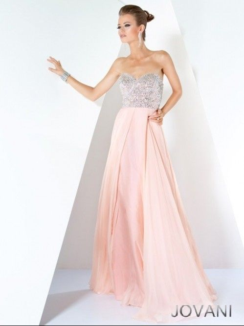 light pink prom dresses | ... Chiffon Light Pink Beading Evening ...