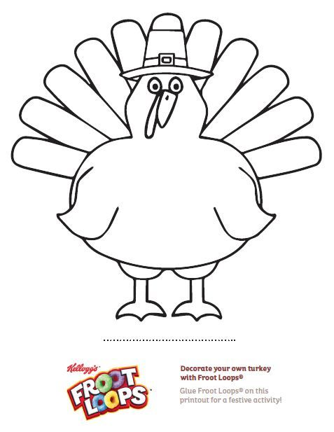 Use This Printout To Have Your Child Decorate Their Own Turkey