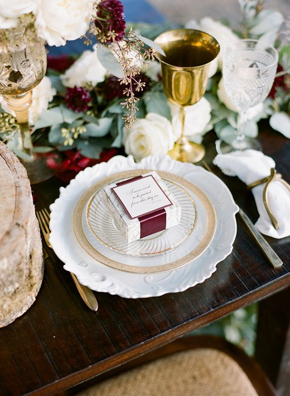 Winter Glam Art Deco Wedding Inspiration In Gold White And Burgundy
