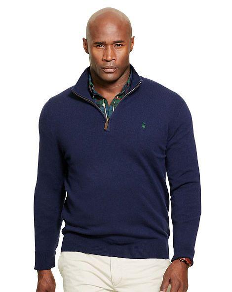 Merino Wool Half-Zip Pullover - Big   Tall Sale - RalphLauren.com ... 40a7c9f1c8