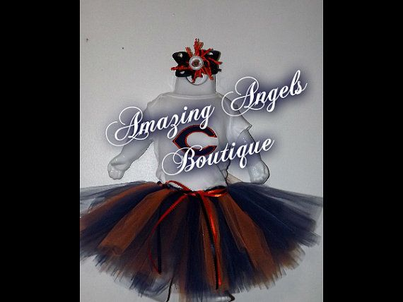 Chicago Bears Tutu Outfit by AmazingAngelBoutique on Etsy, $30.00 25% off your purchase AND FREE SHIPPING THIS WEEK!!!