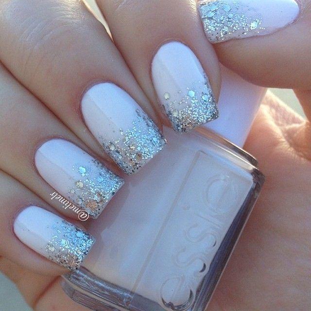Essie: Baby's Breath & Set in Stones for glitter