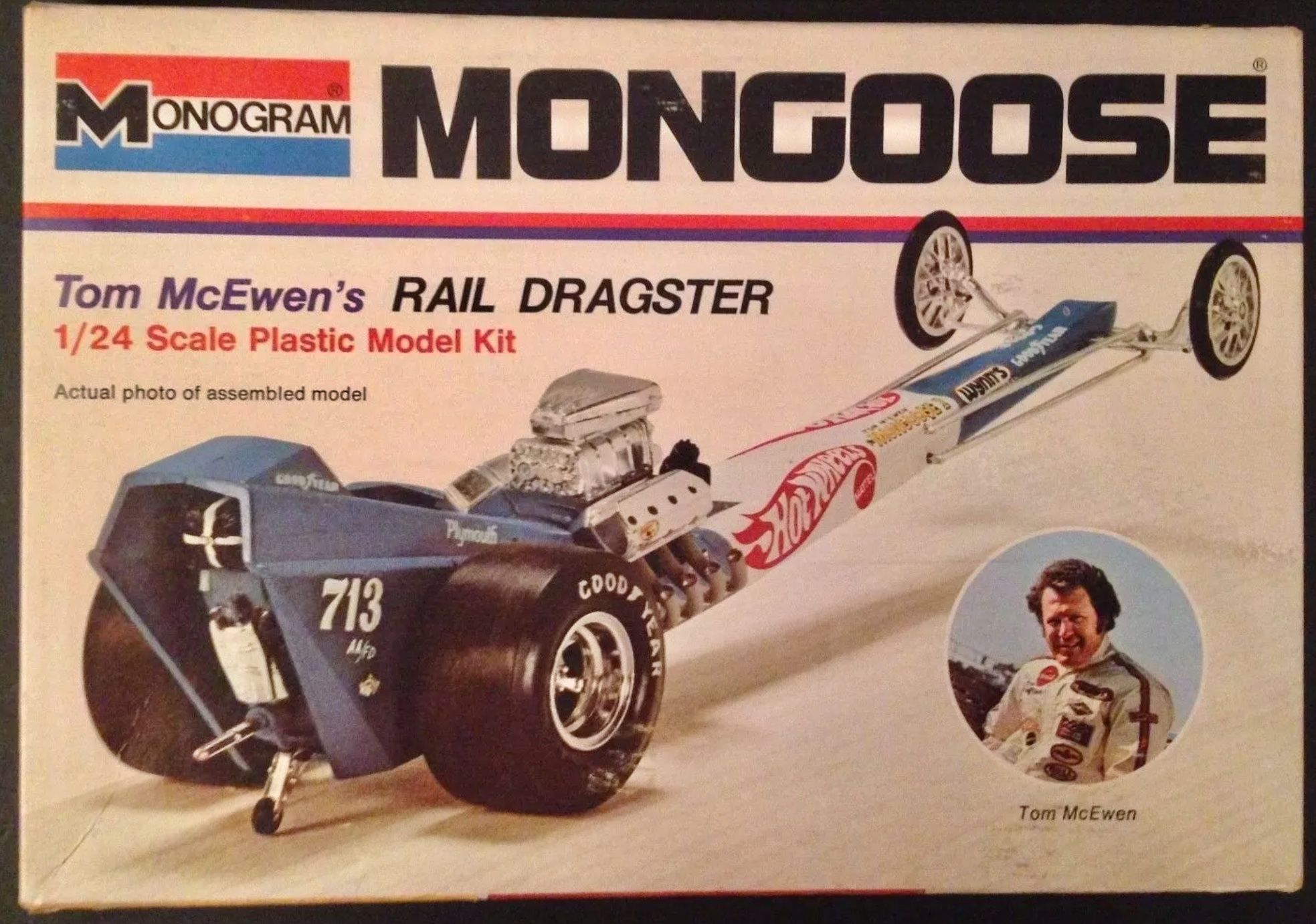 Monogram 1/24th Hot Wheels Mongoose Top Fuel dragster