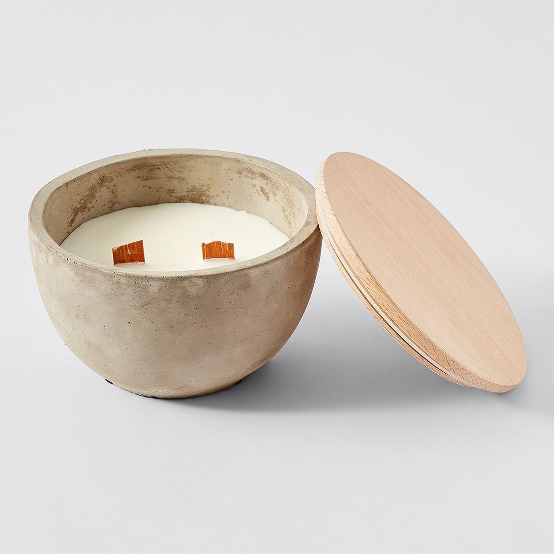 Concrete citronella candle bowl with images bowl
