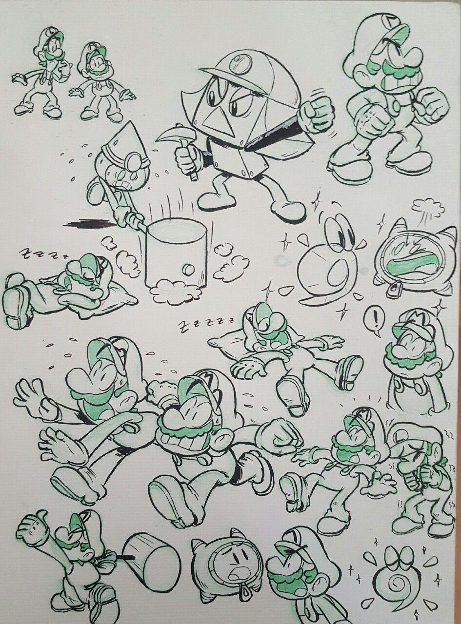 Pin Auf Mario Luigi