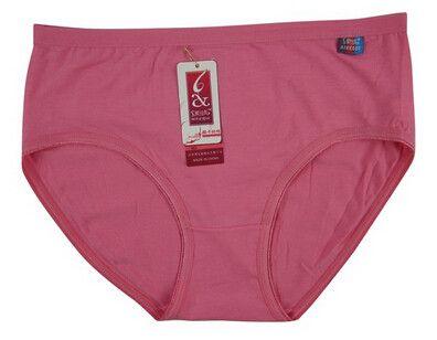 Dmart7deal L-XXXL Plus Size Women's Panties High Waist Cotton Underwear Middle-aged Women Underpants calcinha cintura alta CD77