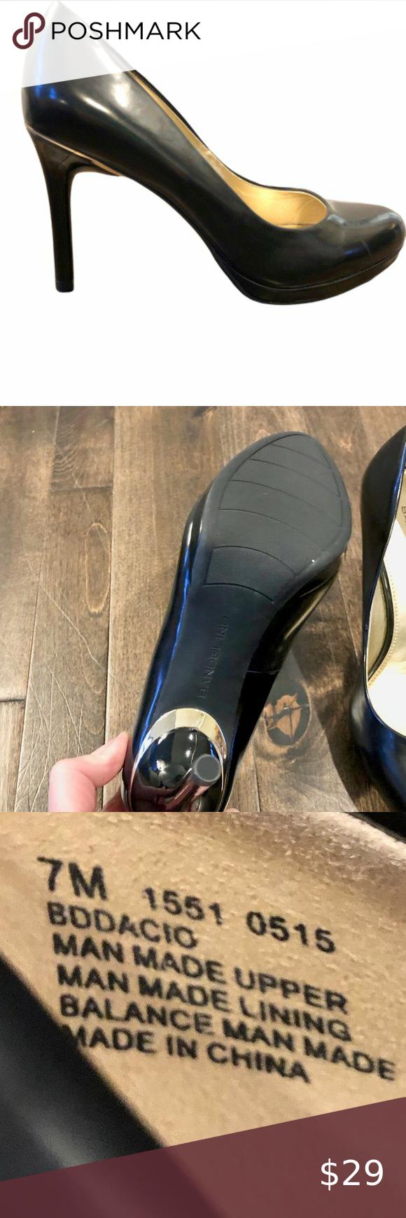 Bandolino Black Bodacio Heels - 7M - NWOT Bandolino Black Bodacio Heels (NWOT) Women's 7 M Black with Gold Design at Top of Heel 4