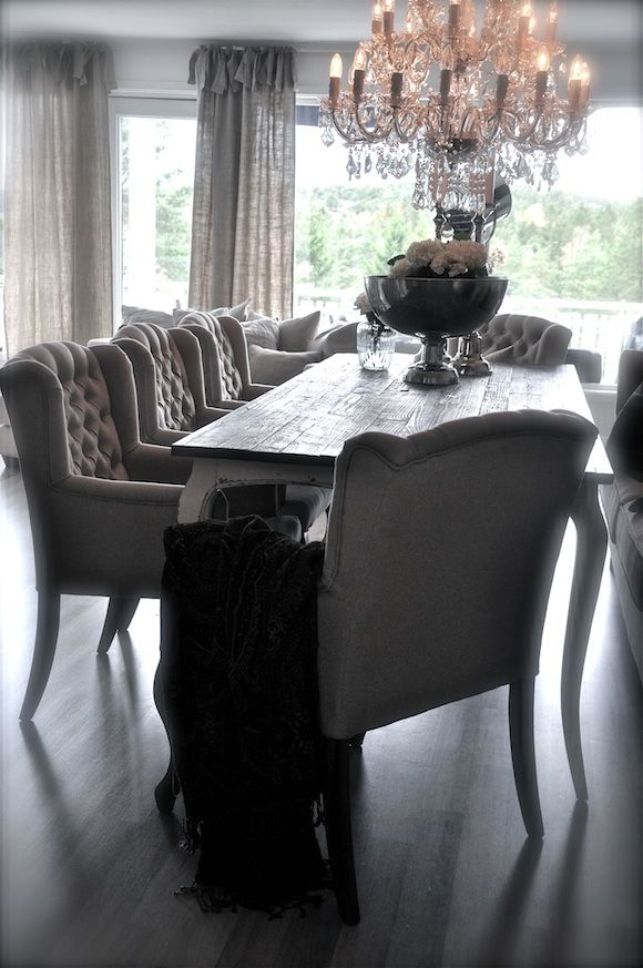 Love The Chairs Watsonia  Pinterest  Chandeliers Room And Unique Grey Dining Room Chairs Design Ideas