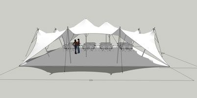 Stretch Tent Diagram Sides Up | Tensionadas, Carpa, Planos