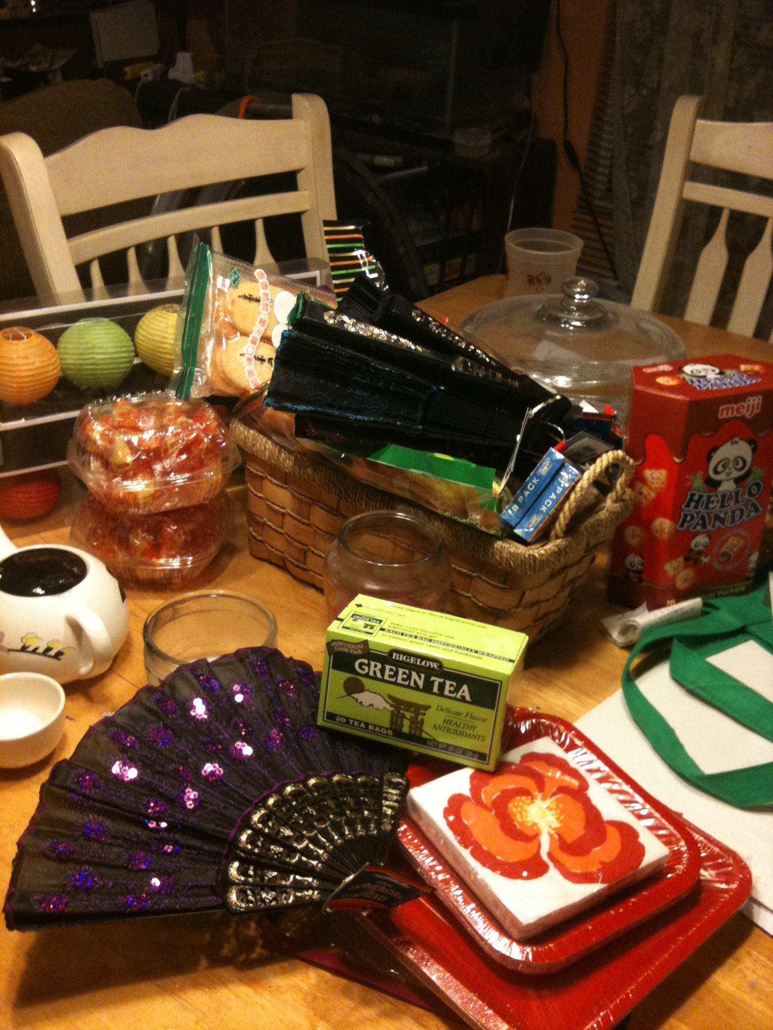 Anime fan birthday partyfruits basket themed green tea