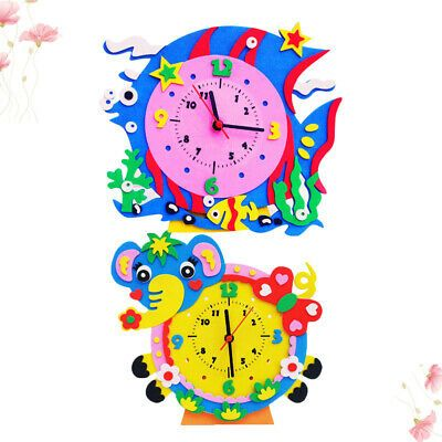 2pcs Manual DIY Clock Cute Lovely Chic Cartoon Funny Clock for Children Toddlers #fashion #home #garden #homedcor #clocks (ebay link)