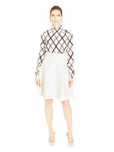 Grid blouse
