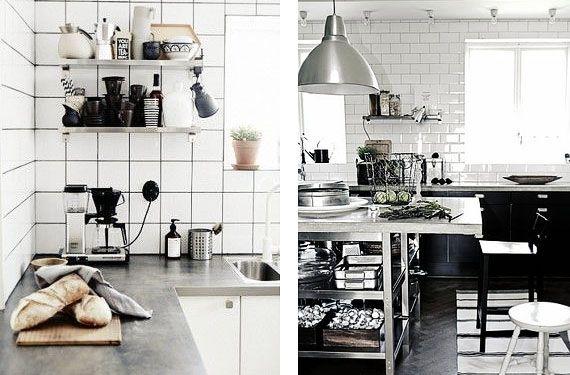 Azulejos color blanco para tu cocina | Azulejos blancos, Cocina ...