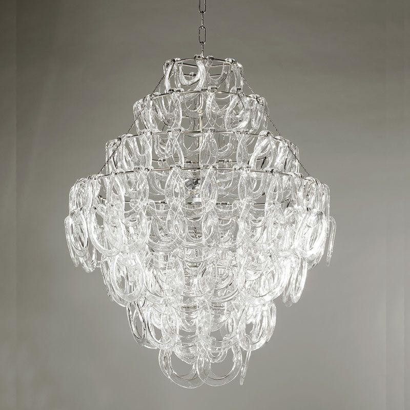 Sorbonne Crystal Chandelier Glass Crystal Chandelier W 4 Lights