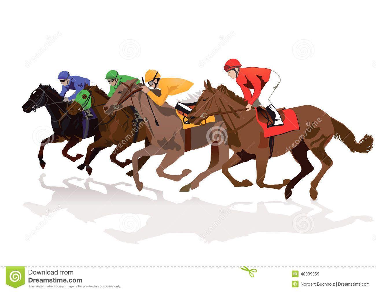 Racing Horses Clipart Free
