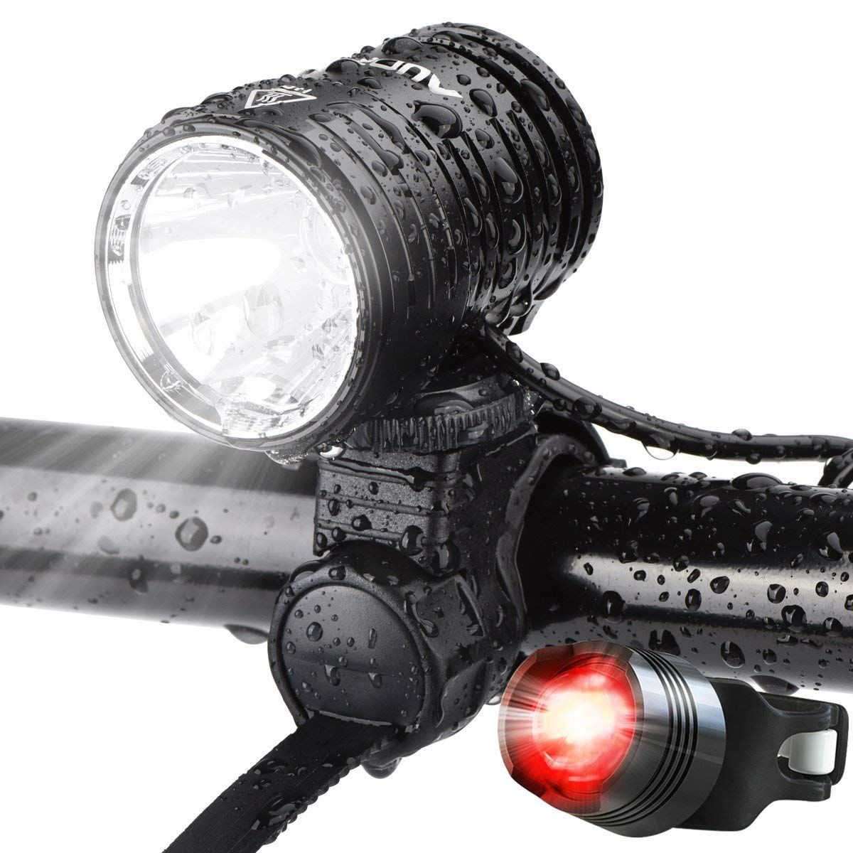 Auopro Led Bike Light Set 1200 Lumens Cycling Headlight Usb Rechargeable And Safety Back Taillight Cree Bicycle Bike Lights Bike Front Light Bike Lights Led