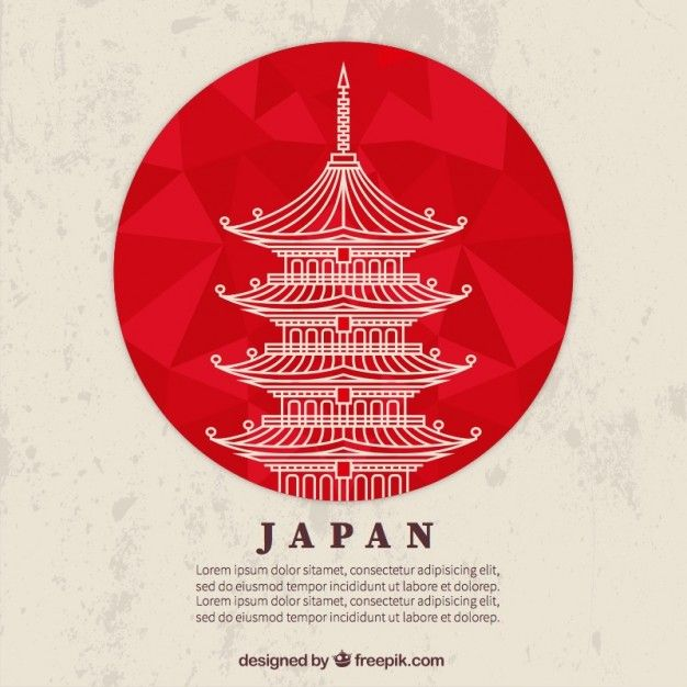 Japanese temple Free Vector